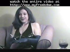 Smoking fetish granny smoking in latex bdsm bondage sla