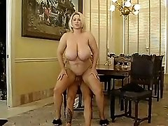 Stunning Blonde With Huge Boobs Takes Big Dick