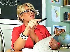 Lucky guy fucks hot teacher lady