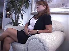 Hot MILF Cum For Her Feet