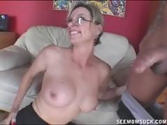 Hot Topless Milf Sucking