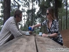 Lactation In The Forest With My Hubby