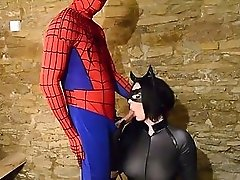 British slut fucked by Spiderman dressed as Catwoman