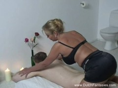 Chubby Dutch Massage &amp Rough Fuck