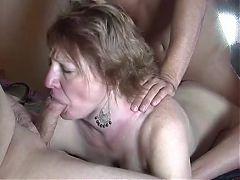 Mature Slut Wife Gangbanged by 3 Guys
