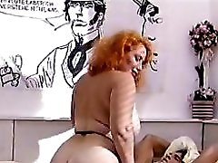 Big ass redhead mature fucks a young cock
