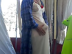 Granny Tranny Tents Her Nighty