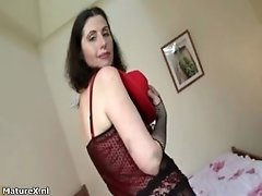 Dirty Mature Slut Gets Horny Taking Her Clothes Off And