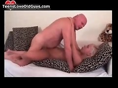 Nasty Old Guy Goes Crazy Licking And Fucking An Horny W
