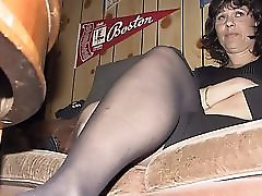 Toronto milf lusy fay in sexy black dress striptease