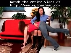Naughty girls get a good spanking by twistedworlds teen