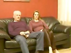 Old Man And Teen N28 Blonde Teen Babe And A Mature Man