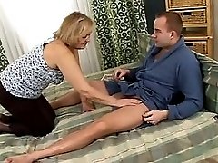 Mature Marinoka with younger guy