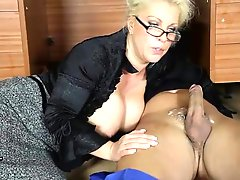 Office Milf Lana Cox Wanks Off Her Handyman S Big Hard Jizz Tool