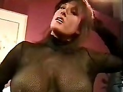 Sexy brunette MILF with lovely big tits