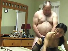 Grandpa Fucks Asian Wife