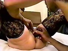 Masked milf with roomful of bbds
