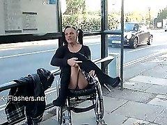Paraprincess Outdoor Exhibitionism And Flashing Wheelchair