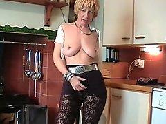 Horny Slutty English Milf Puts On A Show !