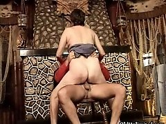 Mature Woman Rides An Hard Cock With Her Hairy Wet Puss