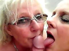 Claire Knight and Sexy Carol snowball cum