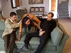 Christina Bella With 2 Guys In IL Manoscritto Italian Production