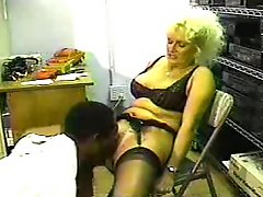 Blonde Slut MILF Fuck Bbc Boss To Keep Job