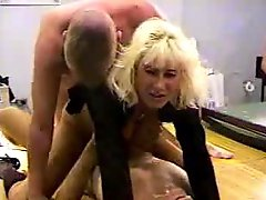 Blonde wife gets ganged
