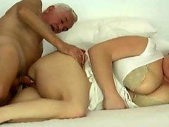 Old man fucks a fat chick