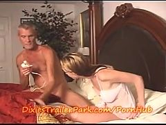 Daddy Gives Step Daughter A Creamy Surprise!