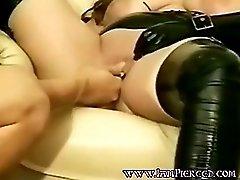 Pierced Wife With Heavy Pussy Rings Pierced Labia