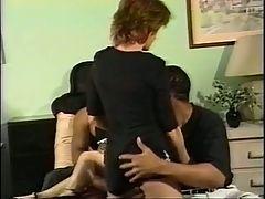 2 Black Guys Fuck 2 White Girls In Orgy