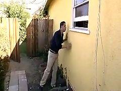 Driver fucks busty boss