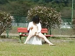 Asian Milf In Public Playground