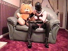 Miss Rubber Gets Teddy To Lick Her Pussy