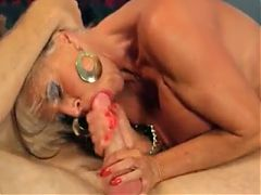 Mature Blonde Gets It From Everywhere In Fast Motion