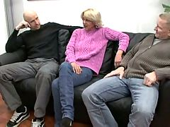 Blonde Granny in Threesome Sex by snahbrandy