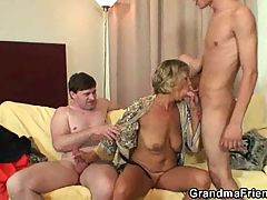 Hot Mature MILF Slut Fucked By Two Young Guys