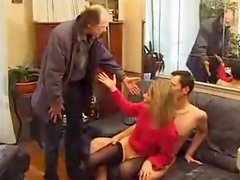 Her Husband Comes Home And Joins In
