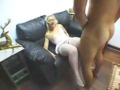 Great anal in white stockings