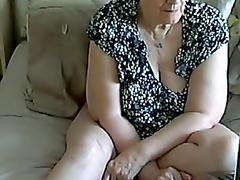 55 yo granny on webcam