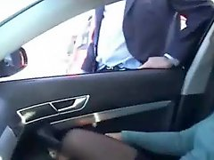 Exhibition of my whore in car fingered by stranger Public