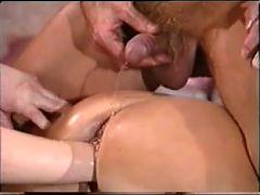 German Mature Threesome Shaving Fisting Anal