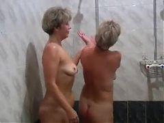 Russian moms Irina Valia in the sauna
