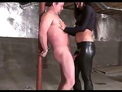 Sadistic Beauty Teasing Ballbusting And Injuring Her Slave
