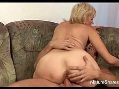 Dick Riding Saggy Butt Granny