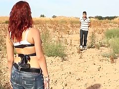Leche 69 Redhead Teen With Glasses Gets Fucked Outside