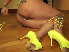 Matryoshka in the ass squirting prolapse Russian Bella