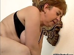 Nasty housewive goes crazy sucking on an hard cock by o