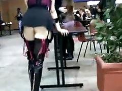 Slut in public